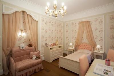 foto dormitorio elegante niña