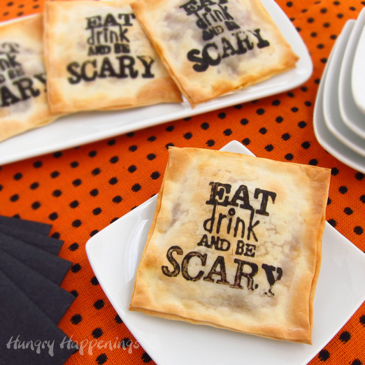 Use a Halloween stamp to add a touch of whimsy to your appetizers.