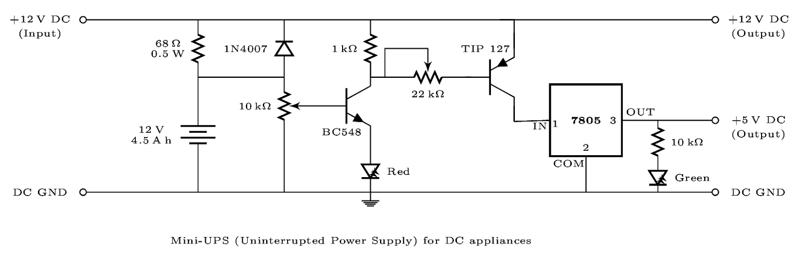 Technical musings drawing circuit diagrams in latex the latex code used to generate this diagram can be found at circuit ups on github a simple example of constructing a circuit diagram is ccuart Images