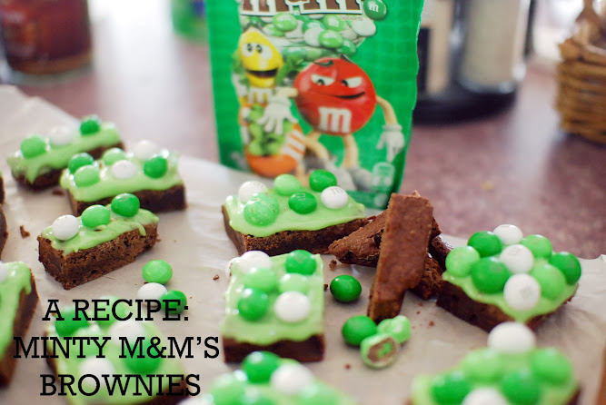 Crispy Mint M&M's Brownies with Cream Cheese Icing Recipe Food Blog