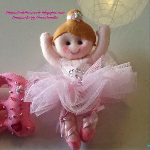 Ballerina , tutù , tul,feltro, pannolenci .