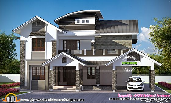 Proposed Kerala house at Angamaly, Kerala