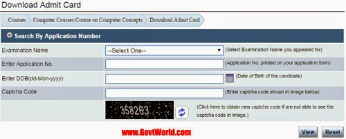 NIELIT CCC Admit Card 2016 Download