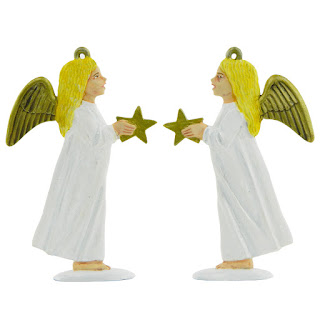 Child Angel with Star Christmas Decorations Mould from Prince August