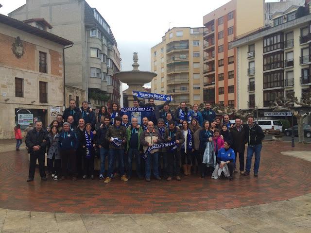 La afición del Villarcayo Nela Club de Fútbol, en Lerma