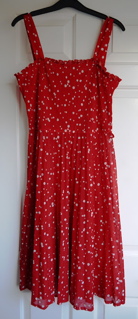 Vintage red polka dor dress