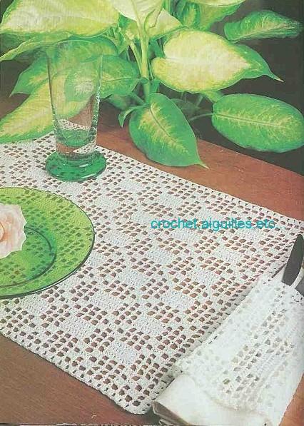 Crochet aiguilles etc set de table for Set de table crochet