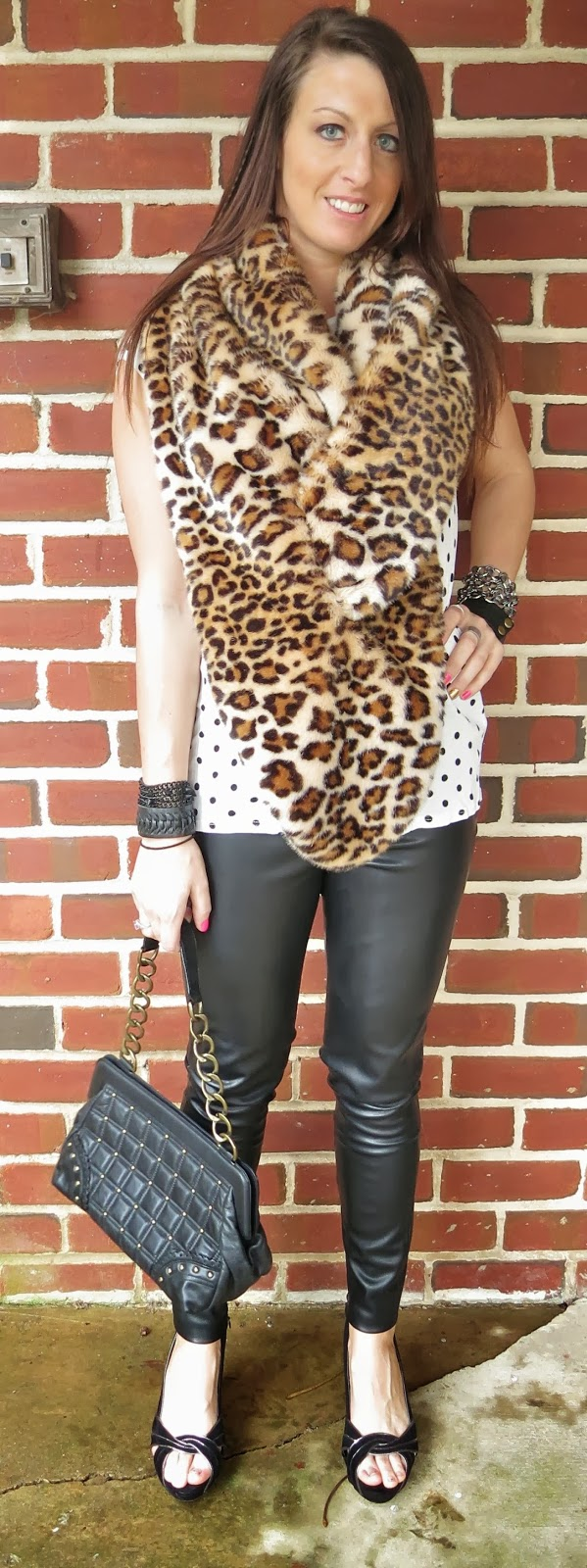 Fashion, leather leggings, leopard, ootd, outfit, Outfit Ideas, outfit of the day, Outfits, polka dots,