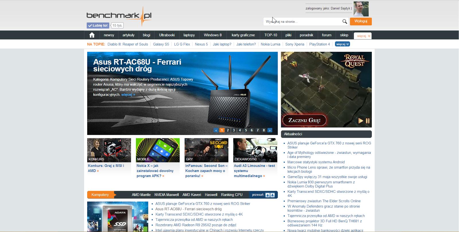 Strona główna portalu benchmark.pl