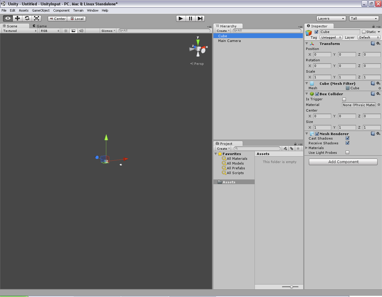 Programmer's Ranch: Unity3D: Moving an Object with Keyboard Input