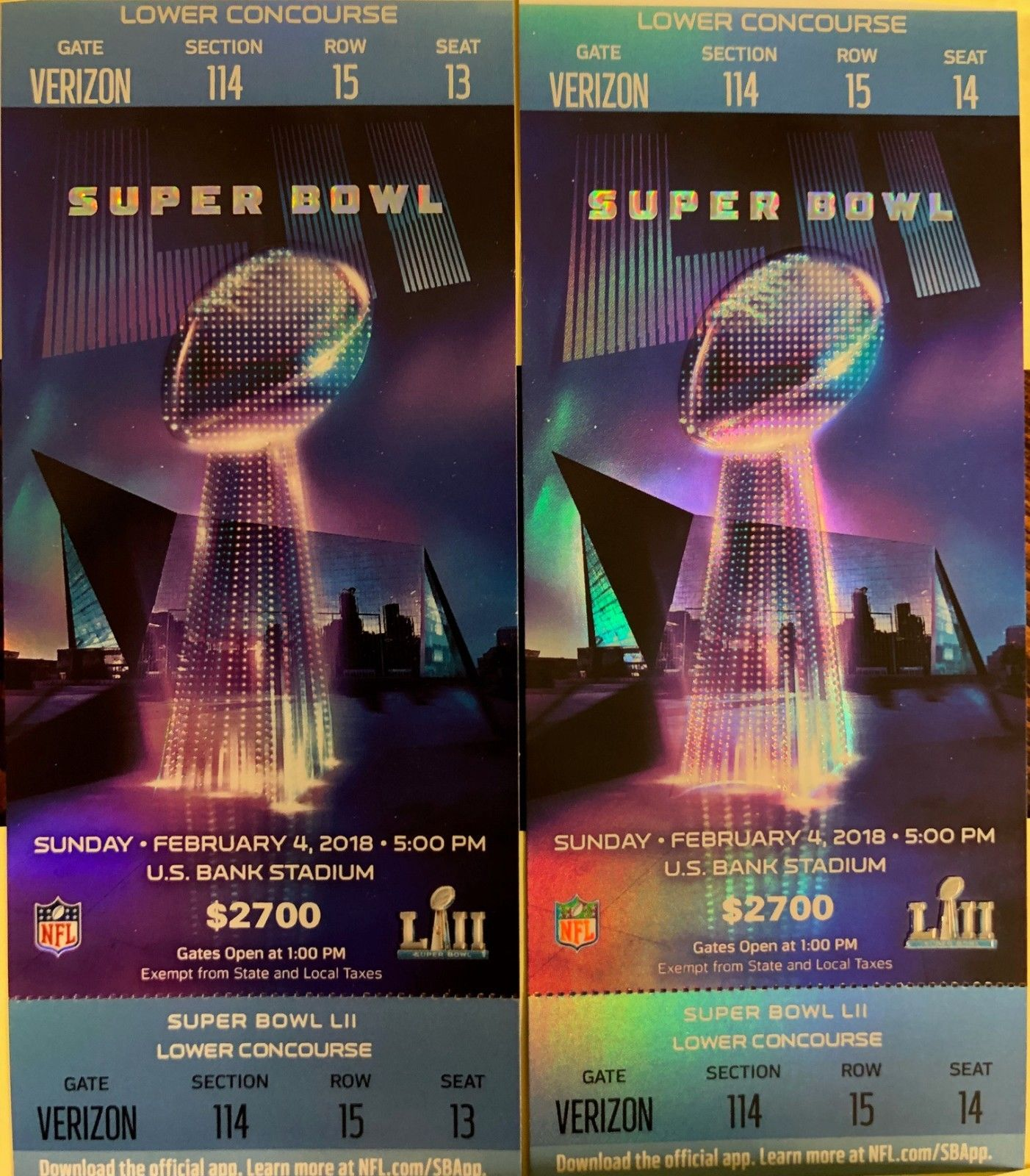 SB LII TICKET