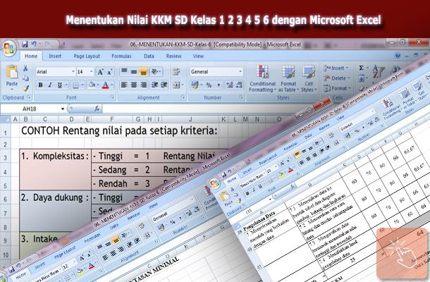 Aplikasi Microsoft Excel untuk Menentukan Nilai KKM SD Kelas 1 2 3 4 5 6