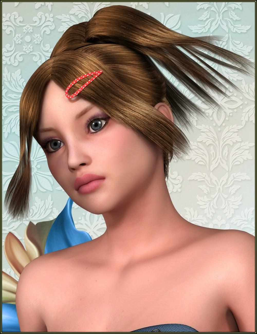 Tsukiakari cheveux