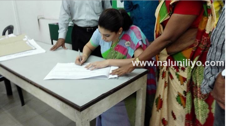 Bharatha Lakshman Premachandra 's daughter Hirunika Premachandra signs election nominations from UNP eksath jathika pakshaya election