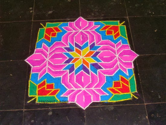 Rangoli design color combination