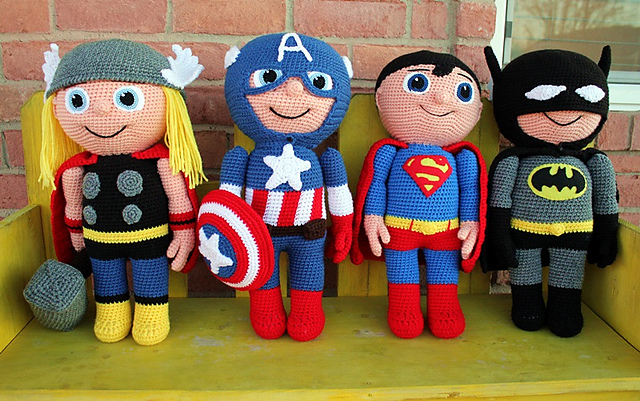 Free Amigurumi Superhero Patterns : Blooming Lovely: Crochet Amigurumi Kid Heroes Patterns