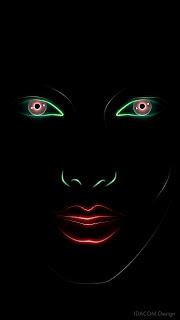 fond ecran femme nokia 360x640 lumiere neon design