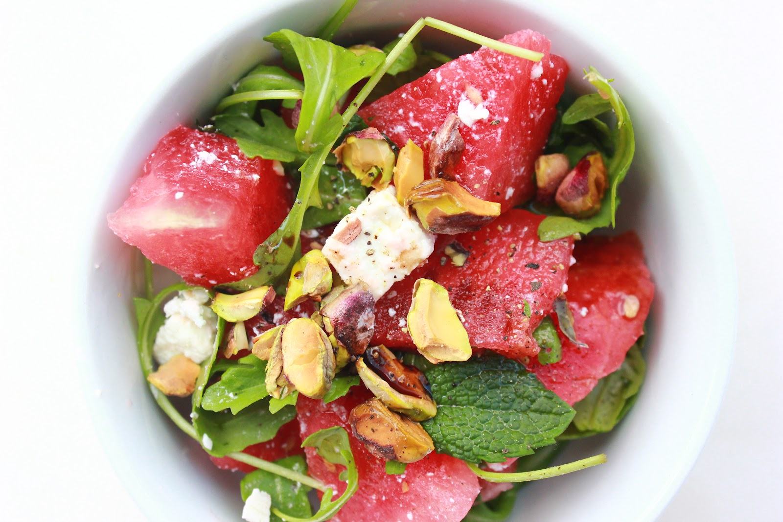 ... hearted kitchen: Watermelon salad with Feta, Basil, Mint & Pistachios