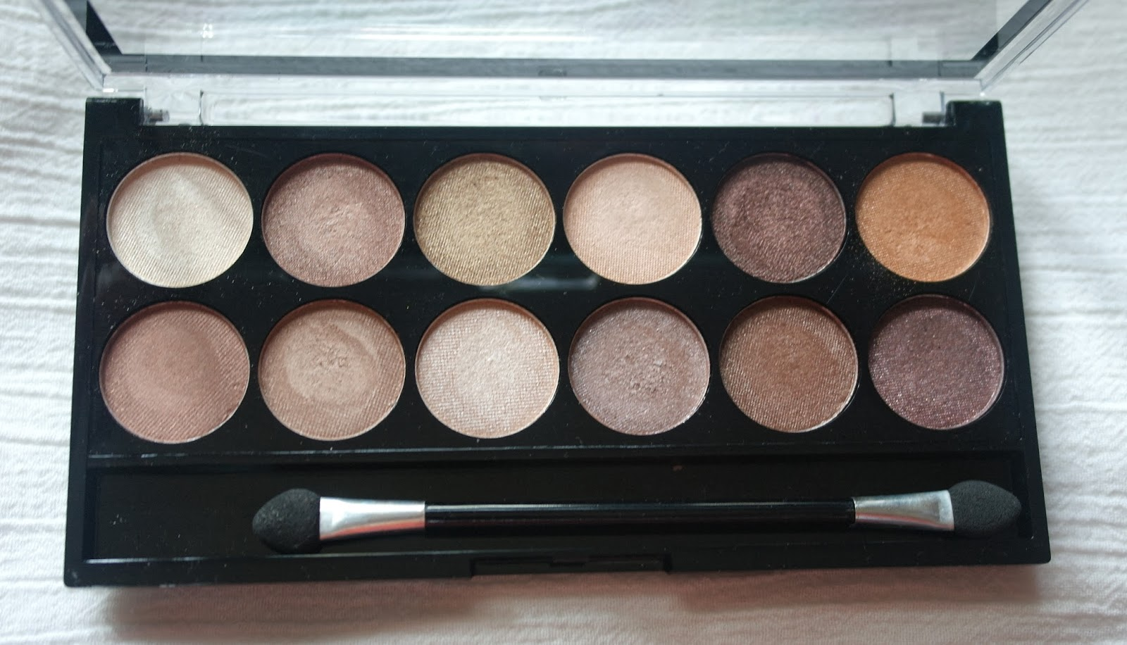 MUA Heaven & Earth neutral shades swatches & review