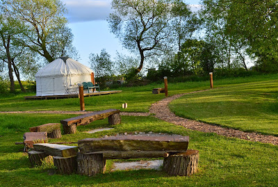 Acorn glade glamping in Yorkshire - poppy yurt