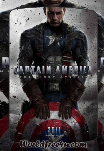 Poster Of Captain America (2011) In Hindi English Dual Audio 300MB Compressed Small Size Pc Movie Free Download Only At worldfree4u.com