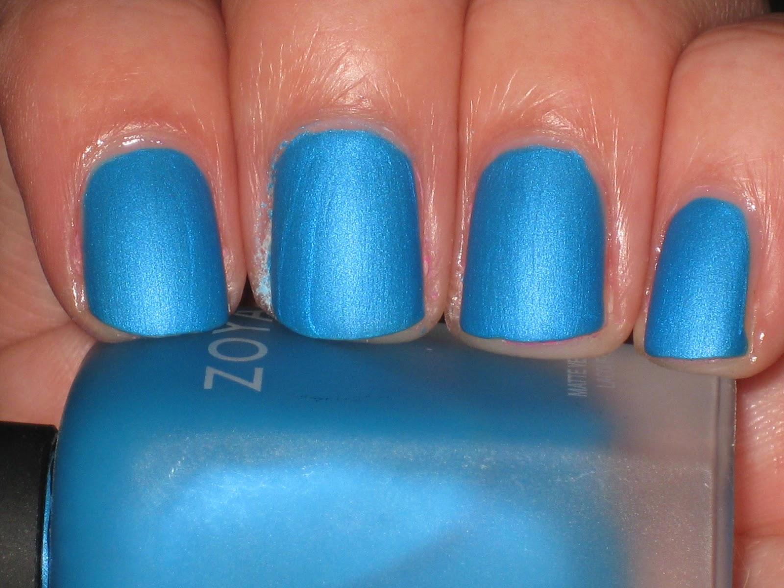 Electric Blue Matte Nail Polish She's an Electric Blue Matte