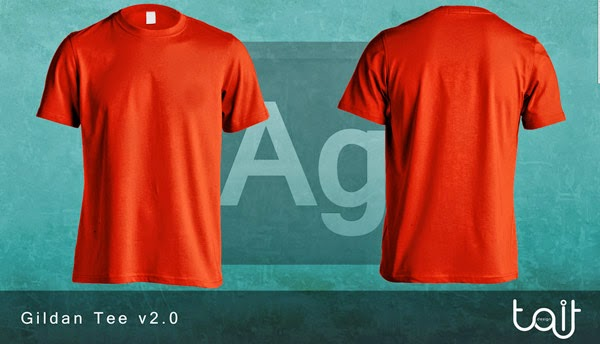 Download T-Shirt Mockup Terbaru Gratis - GILDAN TEE V2.0 BY THEAPPARELGUY