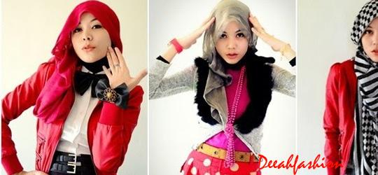 Cara Tampil Beda Dengan Jilbab Bold