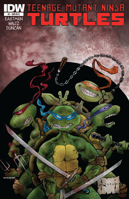 Teenage Mutant Ninja Turtles Issue #1 Variant Cover by Sam Kieth