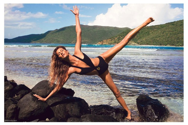 Gisele beach stretch Vogue Paris July 2012 - saved by Chic n Cheap Living