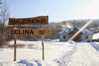 Pesnjonat, Beskid Niski, zima, Buczynowa Dolina, ferie z dziekciem