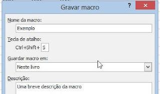 Como criar macros no Excel