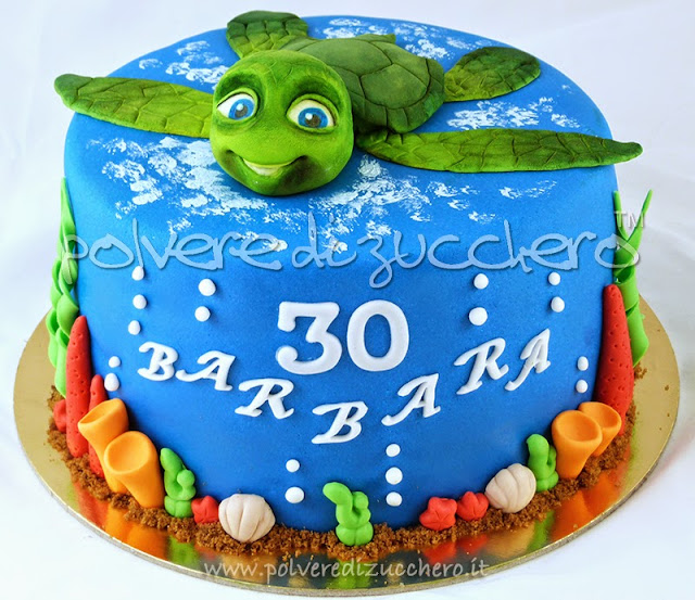 torta decorata: la tartaruga sammy