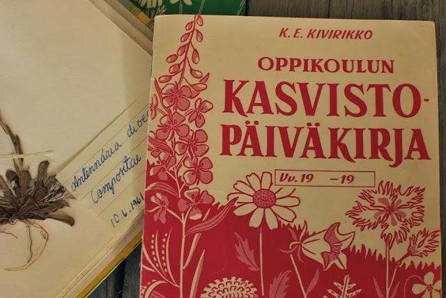60-luvun kasvistopäiväkirja - Muonamiehen mökki