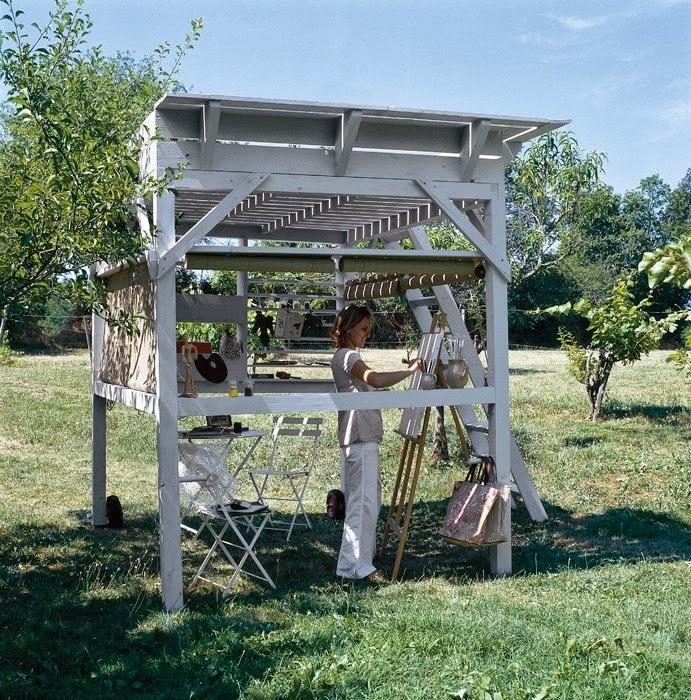 Home garden diy une cabane mezzanine pour le jardin for Porte cabane jardin