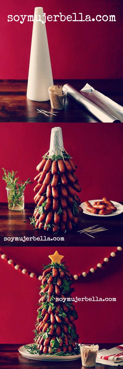 las mejores decoraciones navideñas con comida salado
