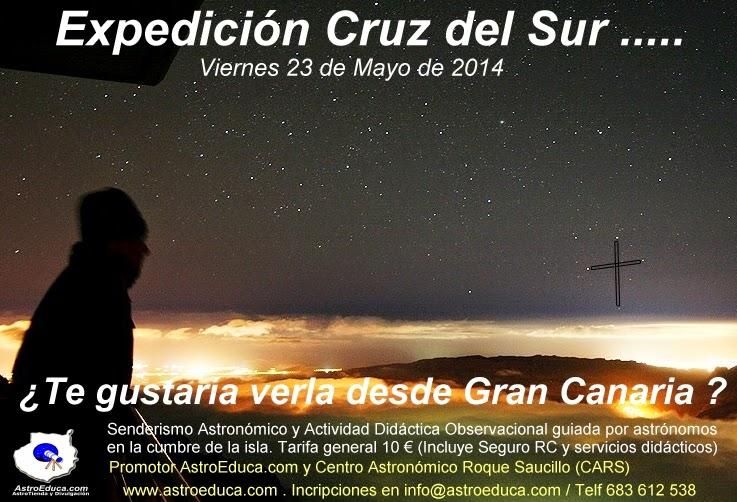 Senderismo Astronómico. La Cruz del Sur