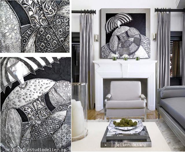 Cuadros online cuadros plateados plata for Cuadros decorativos clasicos