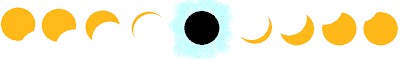 My awesome MS-Paint rendition of a total solar eclipse progression. You know you love it.