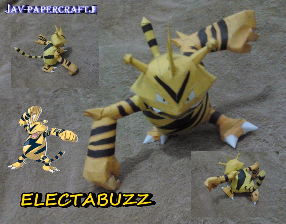 Electabuzz Paper Model
