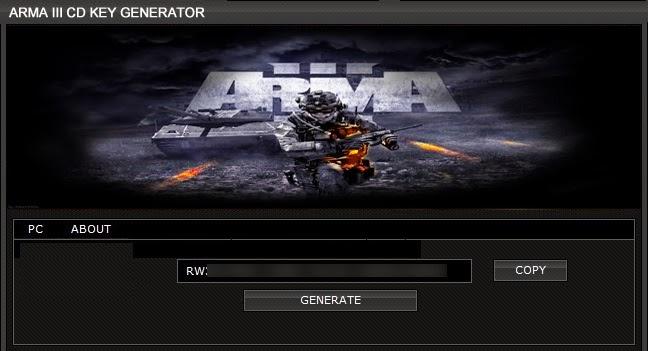 Arma 3 CD KEY Generator
