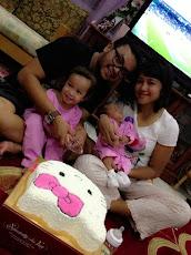 Papa, Mummy, Zara & Lily