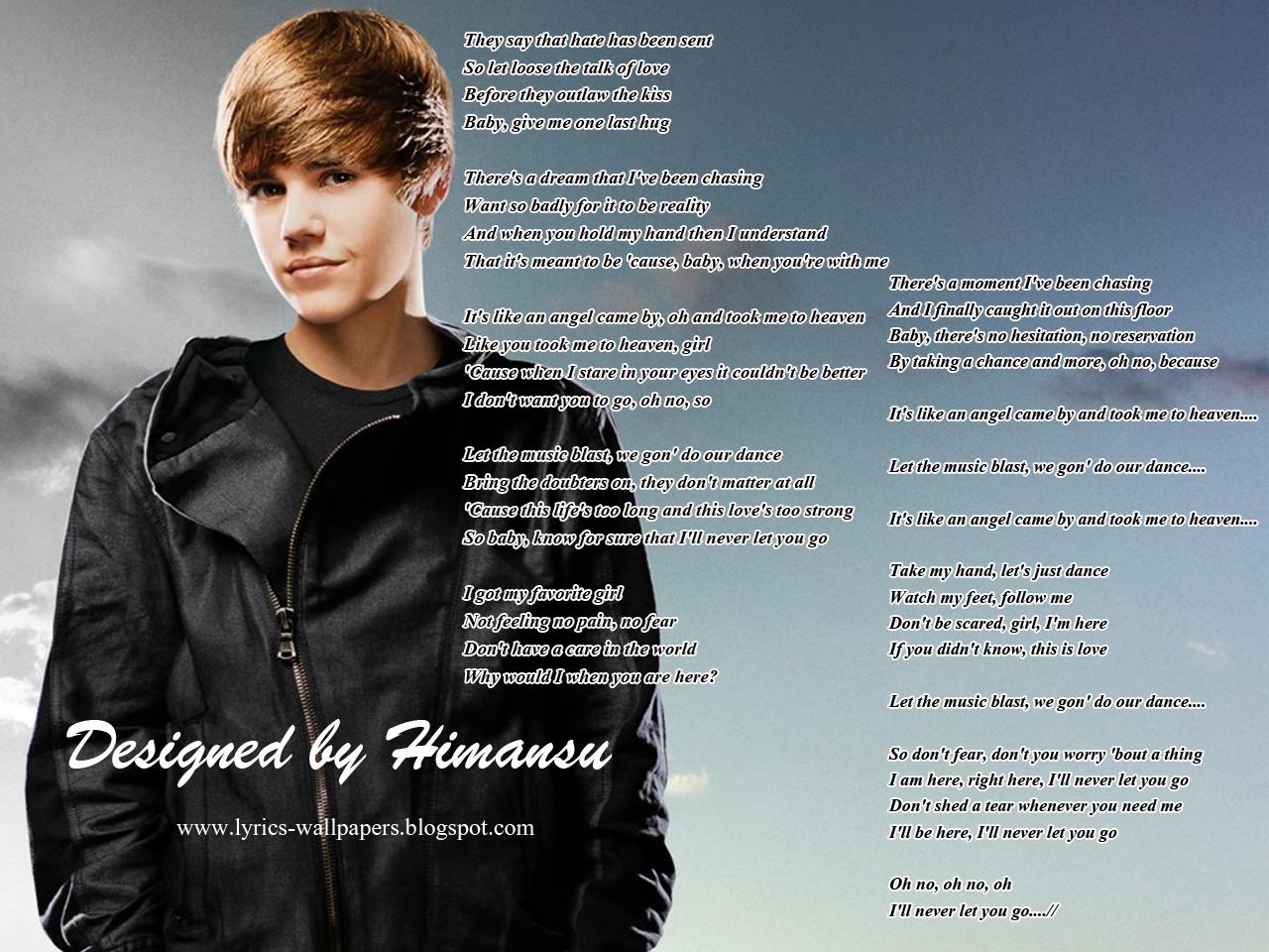 Lyrics Wallpapers - Justin Bieber - Never Let You Go Shakira Songs