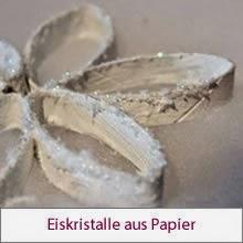Eiskristalle aus Papier