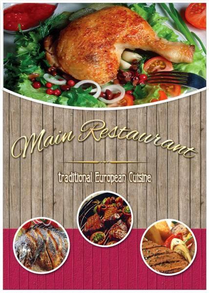 Plantilla para crear menu para restaurantes o comedores