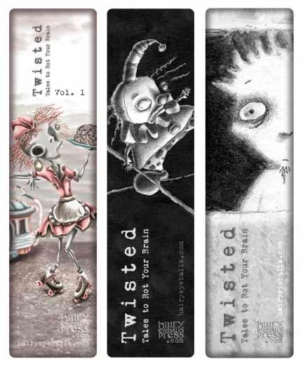 hairy eyeballs bookmark designs for kickstarter