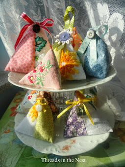 Upcycled Vintage Linen Sachets