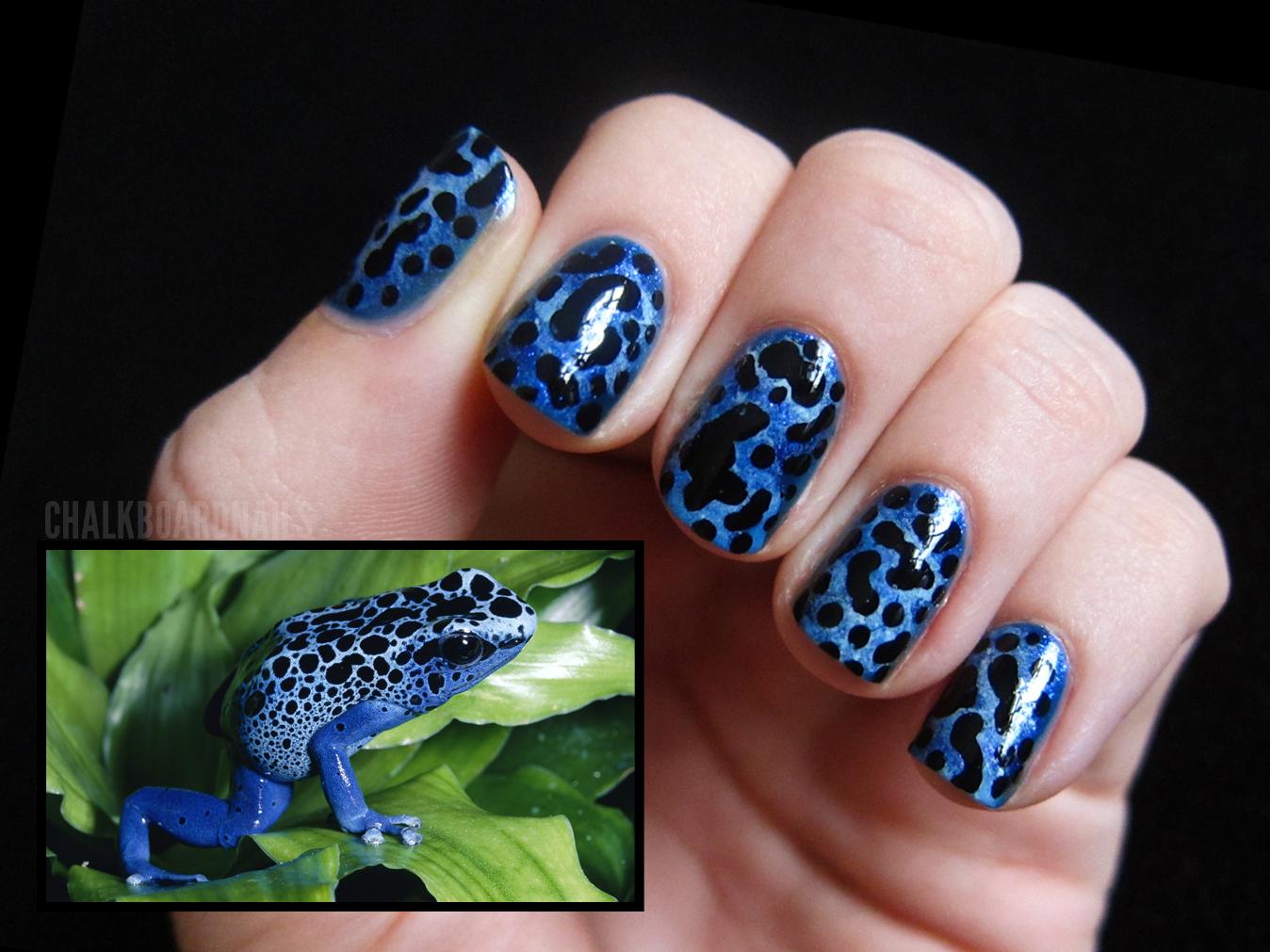 31 Day Challenge, Day 13: Animal Print | Chalkboard Nails | Nail Art ...