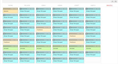 Contoh model jadwal pelajaran - Padamu Negeri