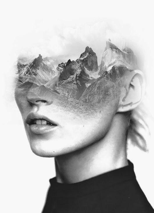Antonio Mora mylovt fotografia photoshop dupla exposição retratos pessoas misturadas preto e branco